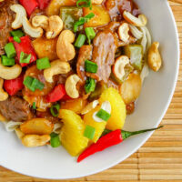 Orange Beef with Cashews a family friendly meal in only 20 minutes!