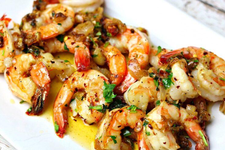 Easy Keto Garlic Shrimp Scampi Recipe