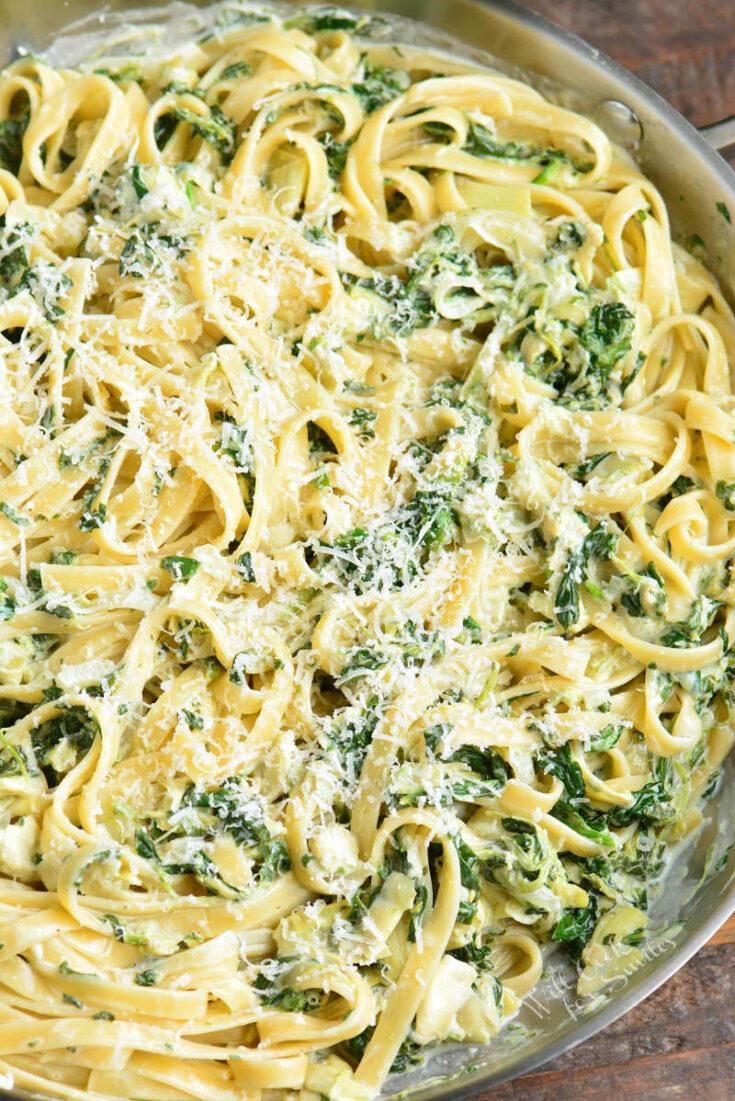 Spinach Artichoke Fettuccine