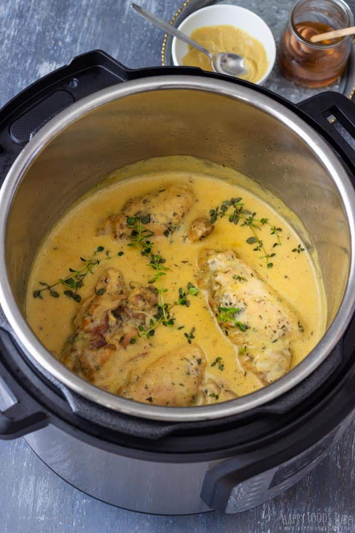 Instant Pot Honey Mustard Chicken - Pressure Cooker Honey Mustard Chicken