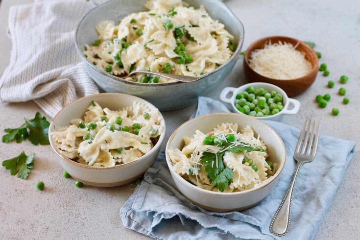 Creamy One-Pot Pasta with Peas