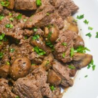 Beef Tips and Mushrooms - Jersey Girl Cooks - Easy Dinner