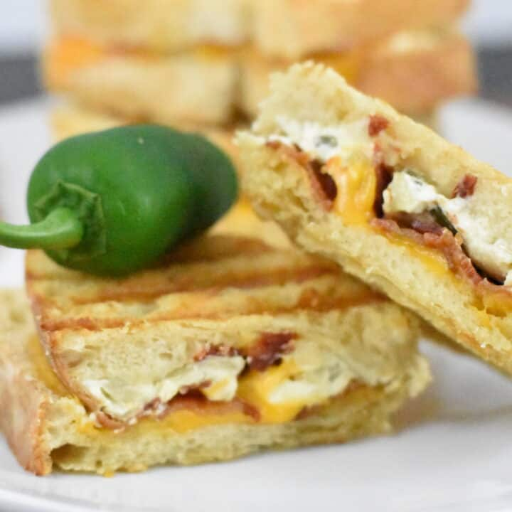 Jalapeno Popper Grille Cheese Sandwiches