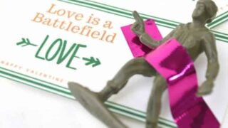 """Love is a Battlefield"" Free Printable Valentine For Kids"