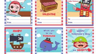 Pirate Valentines - FREE Printable Valentine's Day Cards for Kids