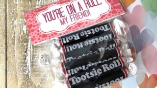 Tootsie Roll Valentine Bag Topper