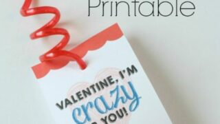 Free Crazy Straw Valentine's Day Printable