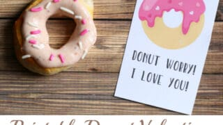 Air Fryer Donuts and Adorable Donut Valentines! [free printable]