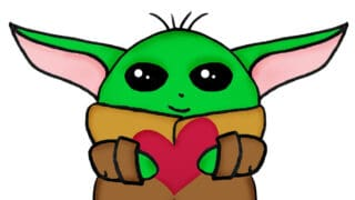 Baby Yoda Valentine's for Your Kid's Classroom Party