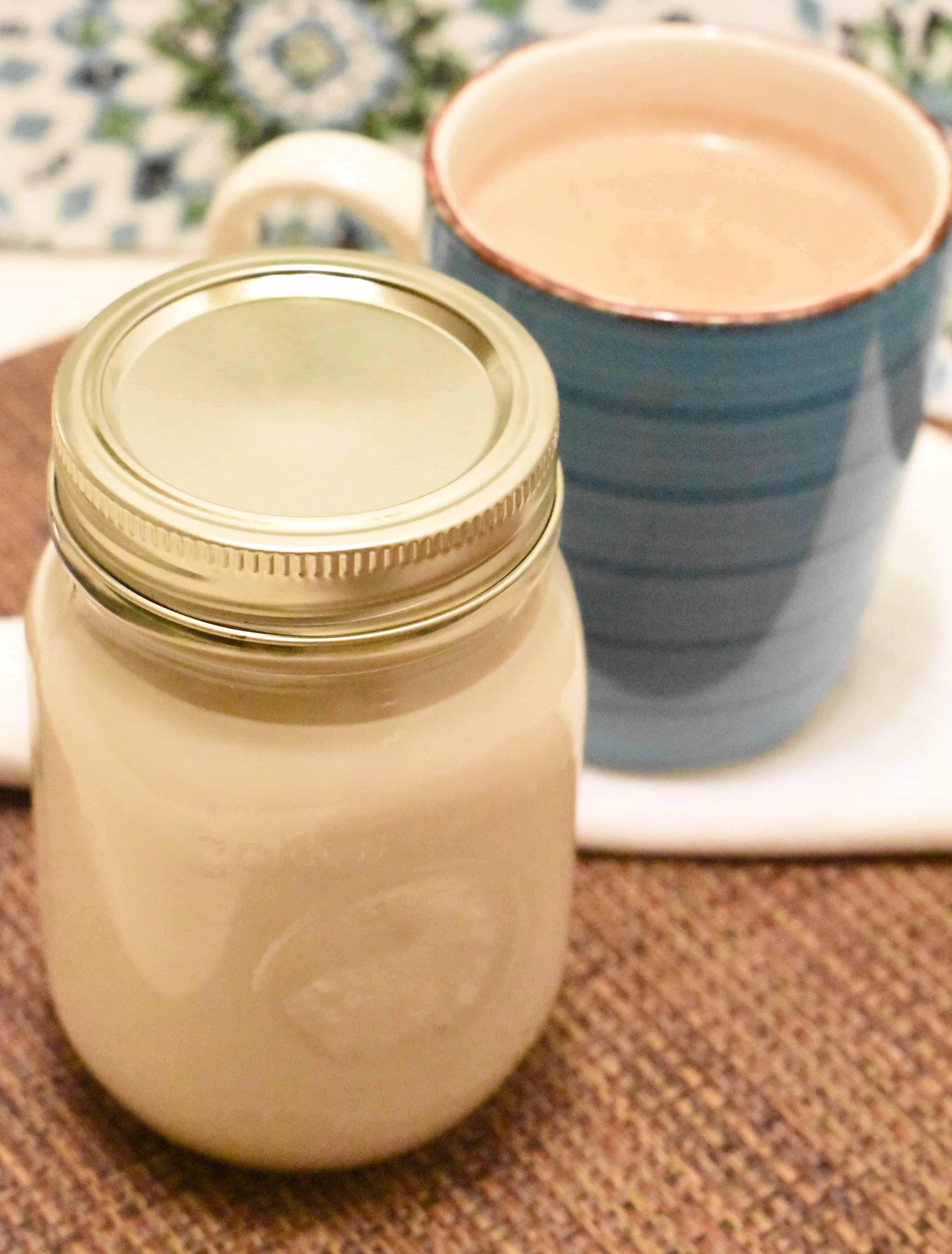 Homemade Vanilla Coffee Creamer | Far