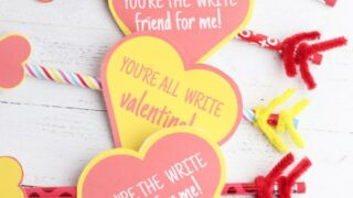 EASY DIY Pencil Valentines For School – Classroom – Non Candy Valentines
