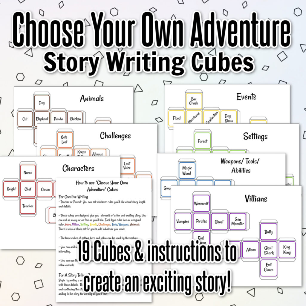 Graphic with story cubes