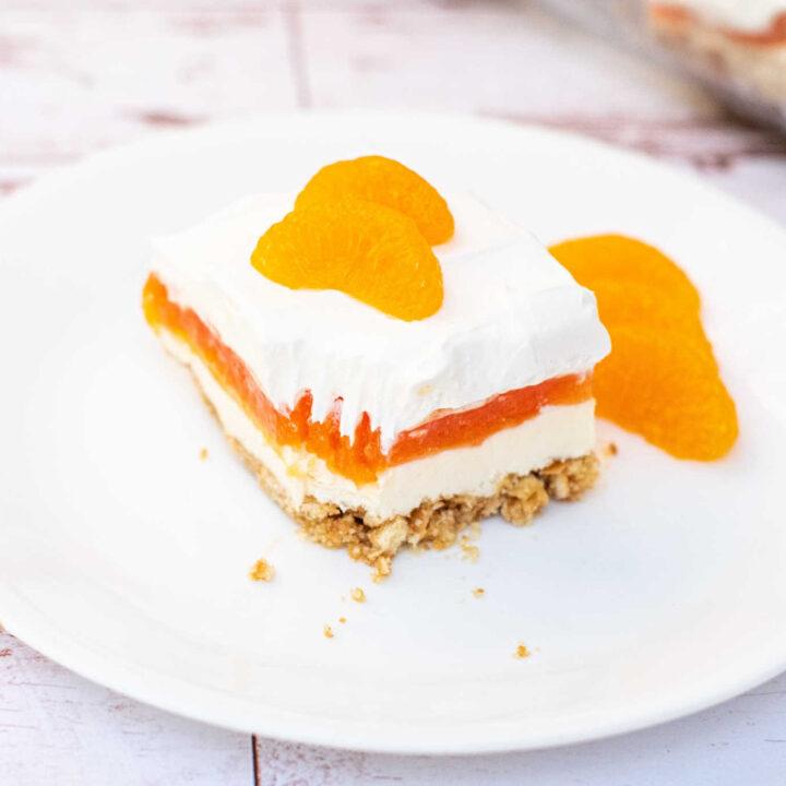 Orange Creamsicle Dessert Lasagna