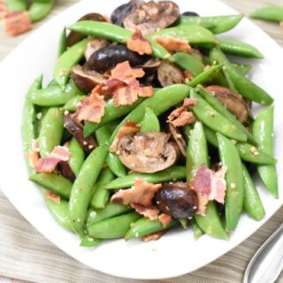 Roasted Snow Peas & Mushrooms