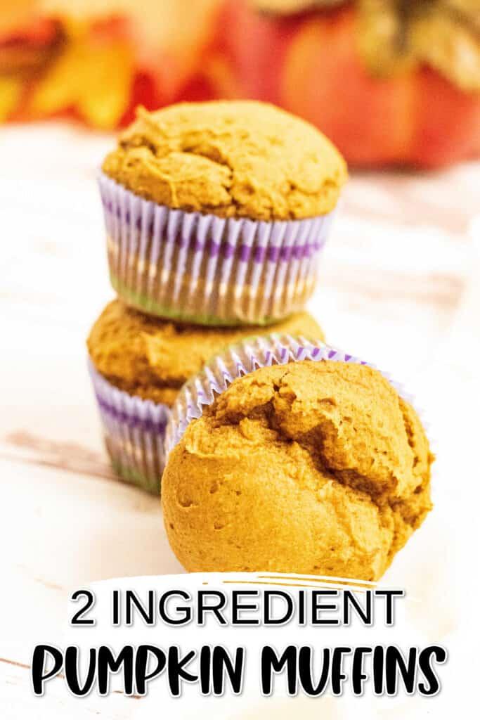 A stack of pumpkin muffins