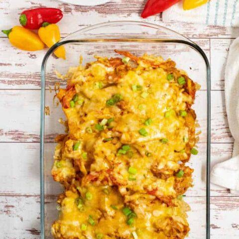 Easy Cheesy Chicken Fajita Casserole