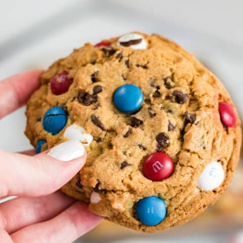 Giant M&M Cookies - Soft & Chewy